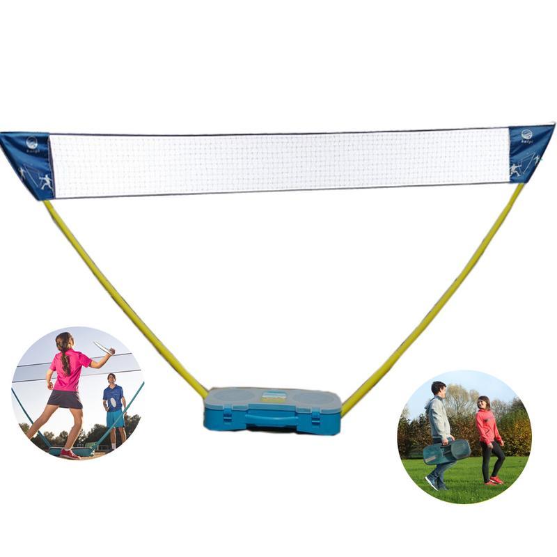 Double Extérieur D'intérieur Portatif Filet De Badminton Avec 2 pièces Raquettes Volant Cas Facile À Démonter Soutien En Gros
