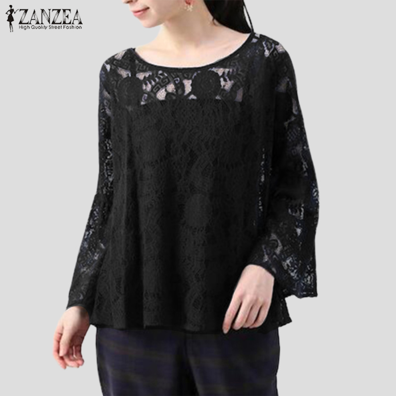ZANZEA 8-24 Women Elastic High Waist Skirt Office Ladies Flare Long Maxi Dress