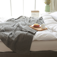 110x180cm/180x200cm Knitted Throw Blanket Bedspread Cover for Living Room Sofa Bed Nap on Chair