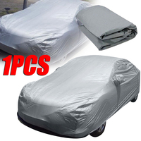 Auto Car Protector Cover Universal Full Car Covers Snow Ice Dust Sun UV Shade Cover Light Silver Size S XXL