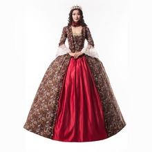 Горячая грузинское готическое платье Викторианский период платье театральная одежда