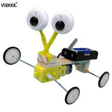 Remote Control Science Experiment Toys Electric Wooden Robot Reptile Model Children Invention Assemble DIY Kits(China)