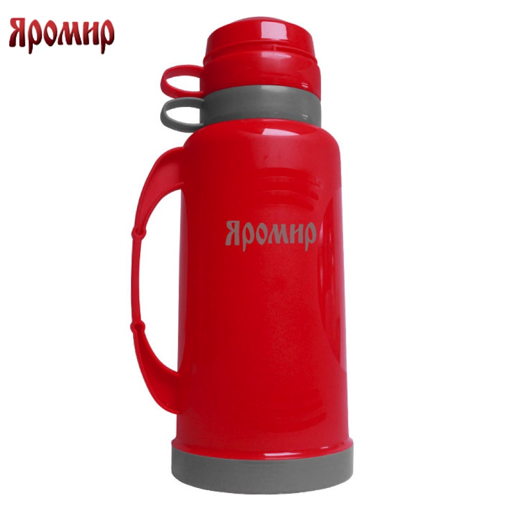 Vacuum Flasks & Thermoses Yaromir YAR-2021C Red/Grey thermomug thermos for tea Cup keep сup stainless steel water mug food flask 9 stainless steel food utility tong