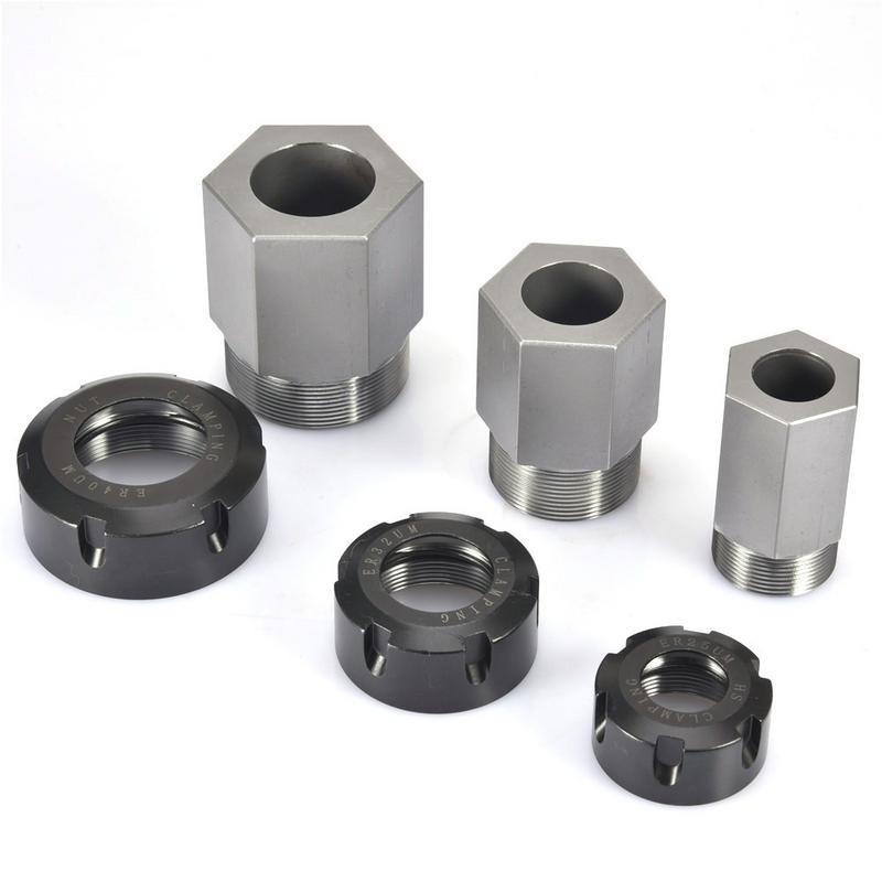Hard Steel Hex ER25 ER32 ER40 Nut ER Collet Nut For Clamping CNC Milling Turning Collet ChucksHard Steel Hex ER25 ER32 ER40 Nut ER Collet Nut For Clamping CNC Milling Turning Collet Chucks