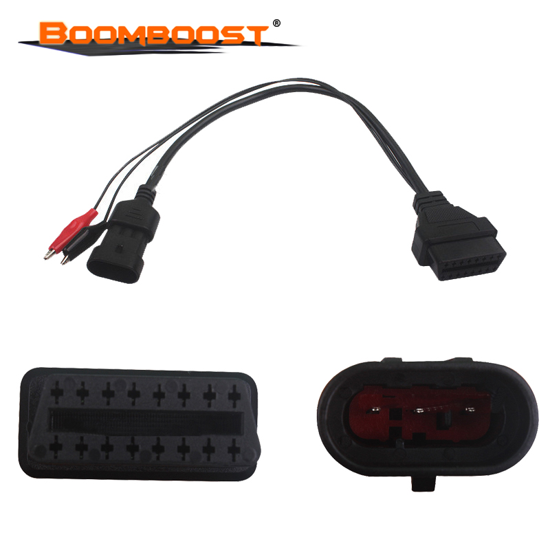 For Fiat 3pin Diagnostic Cable Fit For Fiat/Alfa/Lancia To 16 Pin OBDII OBD2 Obd-II Connector Adapter Auto Car Cable Obd