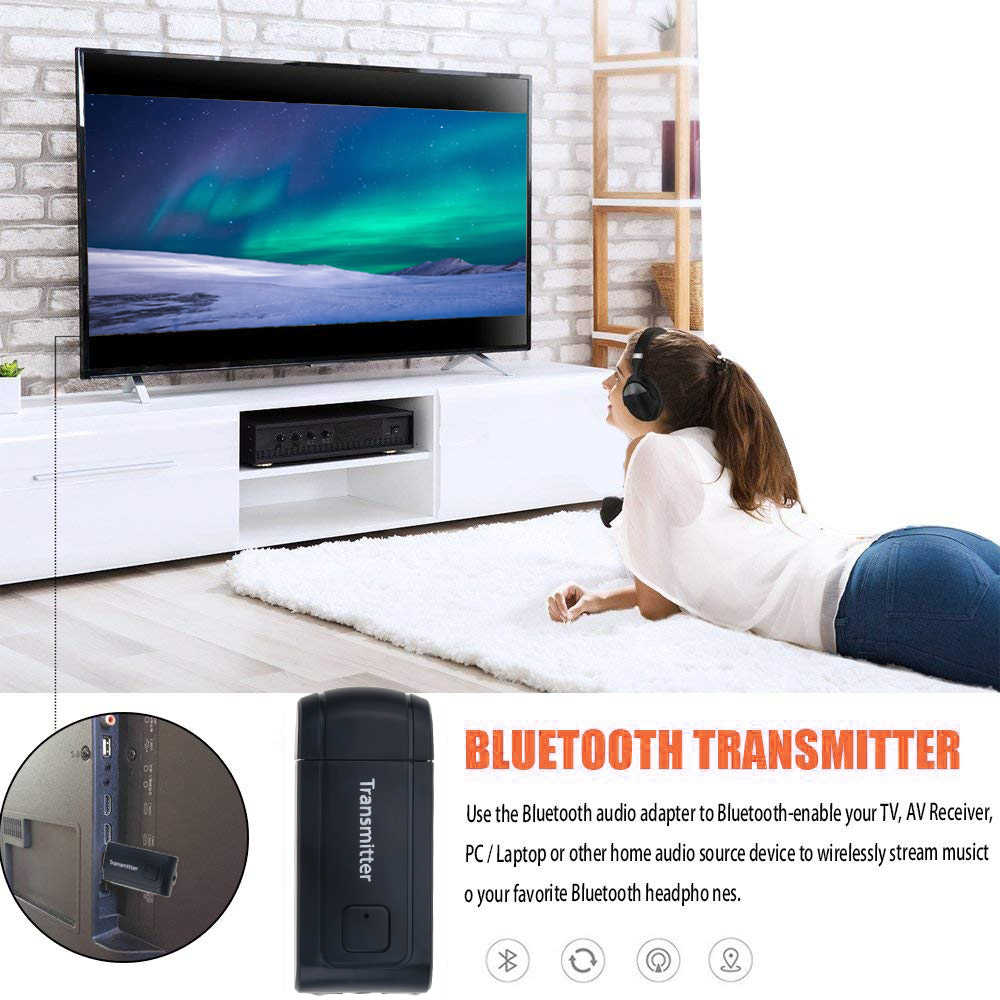 kebidu A2DP 3.5mm Wireless Bluetooth V4.2 Transmitter Adapter Stereo Audio Music Adaptor Apt-x For TV Phone PC Laptop Headphone