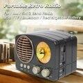 Портативный Ретро Радио беспроводной bluetooth HIFI динамик стерео гарнитура FM AM SW USB AUX TF карта MP3 мультимедиа классический приемник