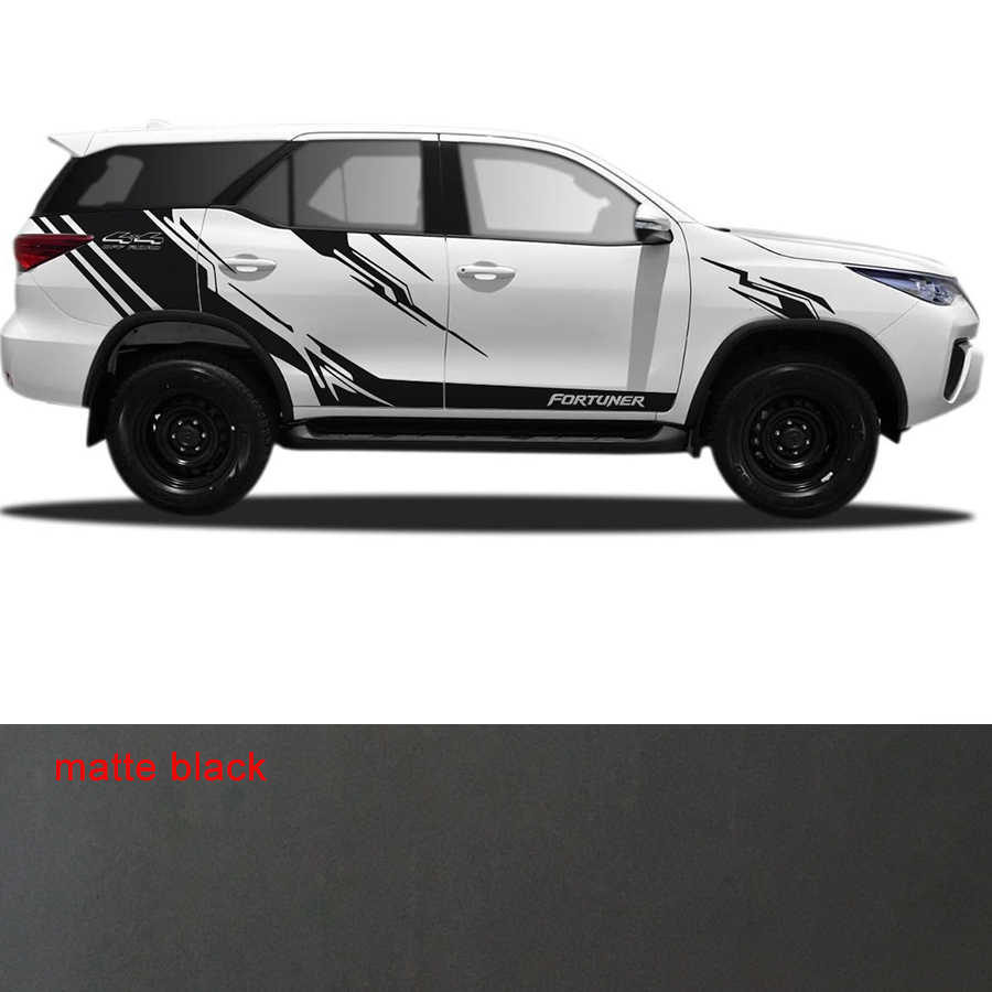 Custom for toyota fortuner stickers 6pc 4x4 off road stripe car side door graphic vinyls modified