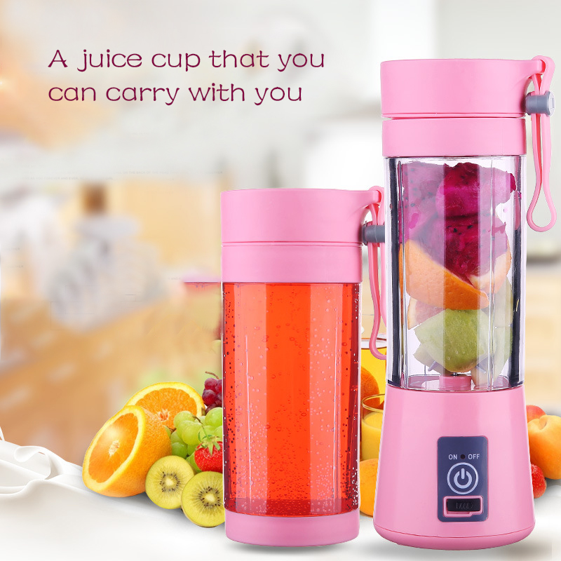 Portable 4 Blades Blender Juicer Cup USB Rechargeable Electric Automatic Vegetable Fruit Citrus Juice Maker Cup Mixer Bottle