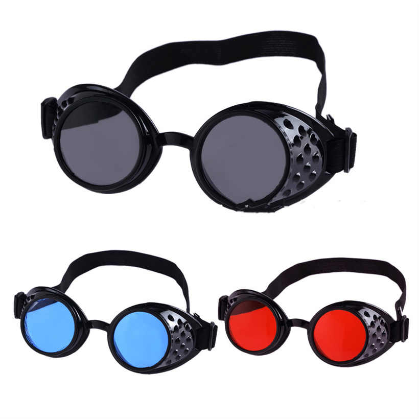 51ace5b8d6 Vintage Steampunk Goggles Men Women Style Steam punk Sunglasses High  Quality Welding Party Punk Glasses Cosplay