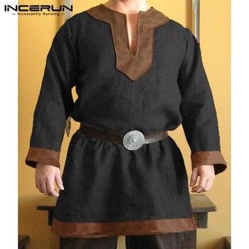 694e219a186f Cosplay disfraces medievales hombres vikingos Caballero Guerrero ...