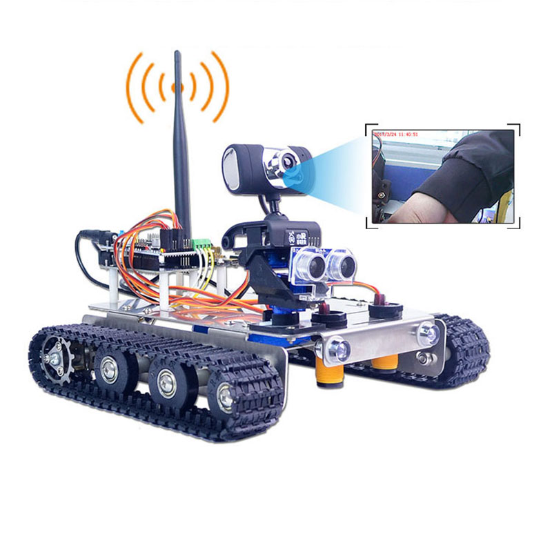 Xiao R DS WiFi Wireless Video Smart Robot Car Kit with Camera