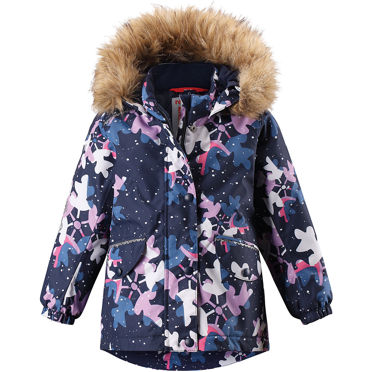 REIMA Jackets & Coats 8689427 for girls baby clothing winter warm boy girl jacket Polyester arsuxeo thermal cycling jacket winter warm up bicycle clothing windproof waterproof breathable pockets mtb bike jersey 15 k