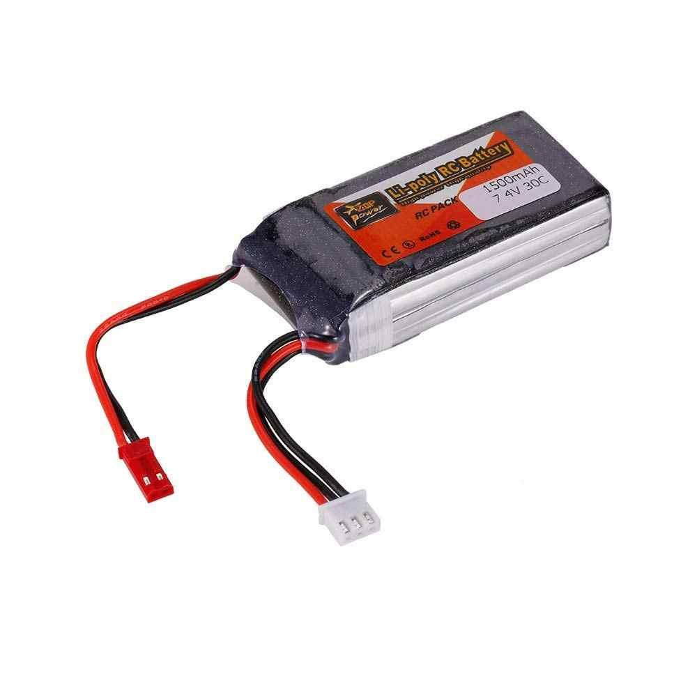 ZOP POWER Lipo Battery For 2S 7.4V 1500mah 30C JST For QAV250 H210 LS180 FPV Racing RC Quadcopter Car Boat