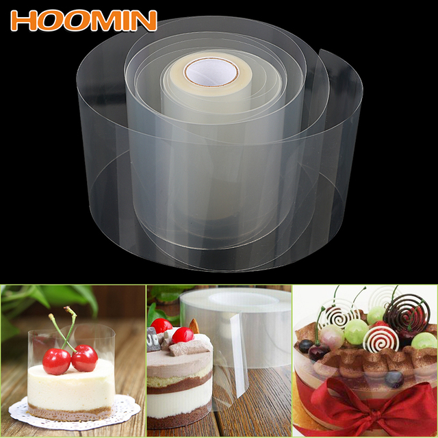 HOOMIN 8cm 10cm Transparent Clear Mousse Surrounding Edge Wrapping Tape Baking Cake Dessert Collar DIY Cake Decorating Tools