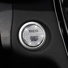 For Mercedes Benz AMG A B C GLC GLA CLA ML Class W176 W246 W205 X253 X156 C117 Engine Start Stop Ignition Key Ring Diamond Trim
