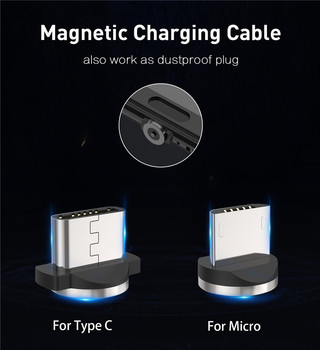 Magnetic USB Cable Fast Charging USB Type C Cable Magnet Charger Data Charge Micro USB Cable Mobile Phone Cable USB Cord 2