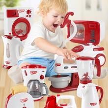 Розовые домашние ролевые игры кухонные детские игрушки пылесос миксер рисоварка Обучающие приборы для девочки мальчик игрушка подарок