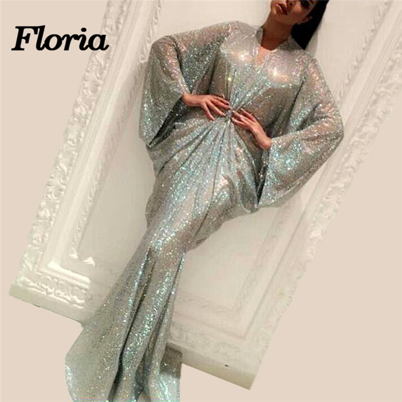 Arabic Dubai Mint Green   Evening     Dresses   Aibye Robe de soiree 2019 Dubai Muslim Formal Pageant   Dress   Abendkleider Long Prom Gowns