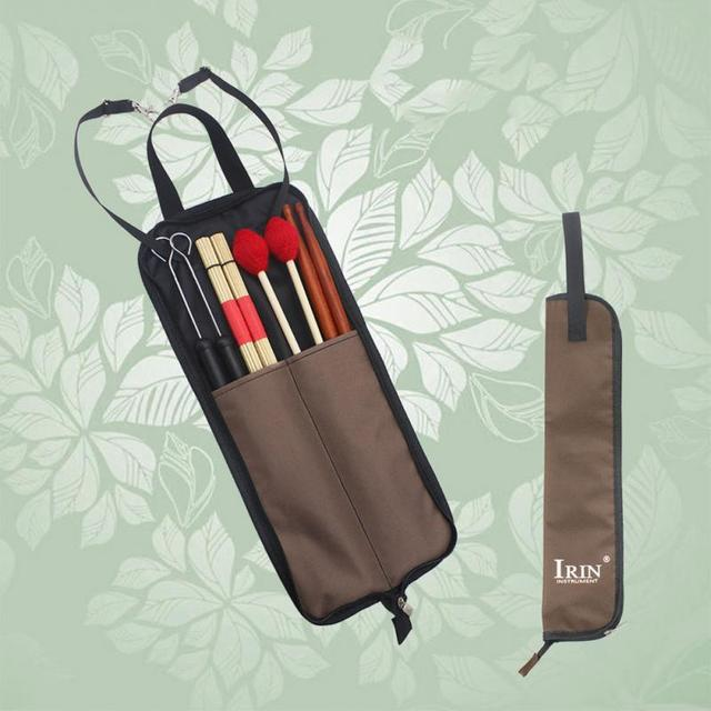 Irin Drum Stick Bag  - Durable Waterproof Storage Pouch Portable Drummer Accessories