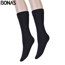BONAS 3pcs/lot Womens Warm Stockings Plus Size Lower leg Knee 46cm Stocking Winter Short  Women Girls Female Erotic
