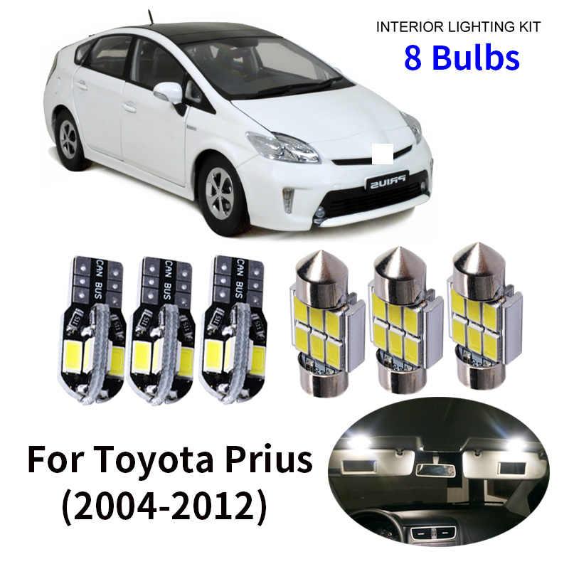Muchkey luz de interior coche Para Prius Camry Auto Dome Bombilla Kit Blanco 4pcs