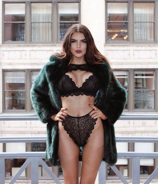 99c88045c5dae CWXANS sexy bra set hot women floral lace transparent push up halter lingerie  bralette wire free breathable hollow out underwear