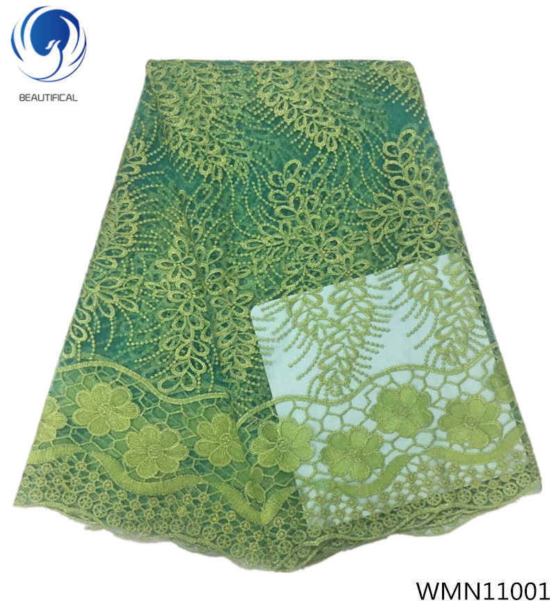 BEAUTIFICAL african lace fabrics lastest high quality tulle lace fabrics with stones lace dress for wedding 5yards/lot WMN110BEAUTIFICAL african lace fabrics lastest high quality tulle lace fabrics with stones lace dress for wedding 5yards/lot WMN110