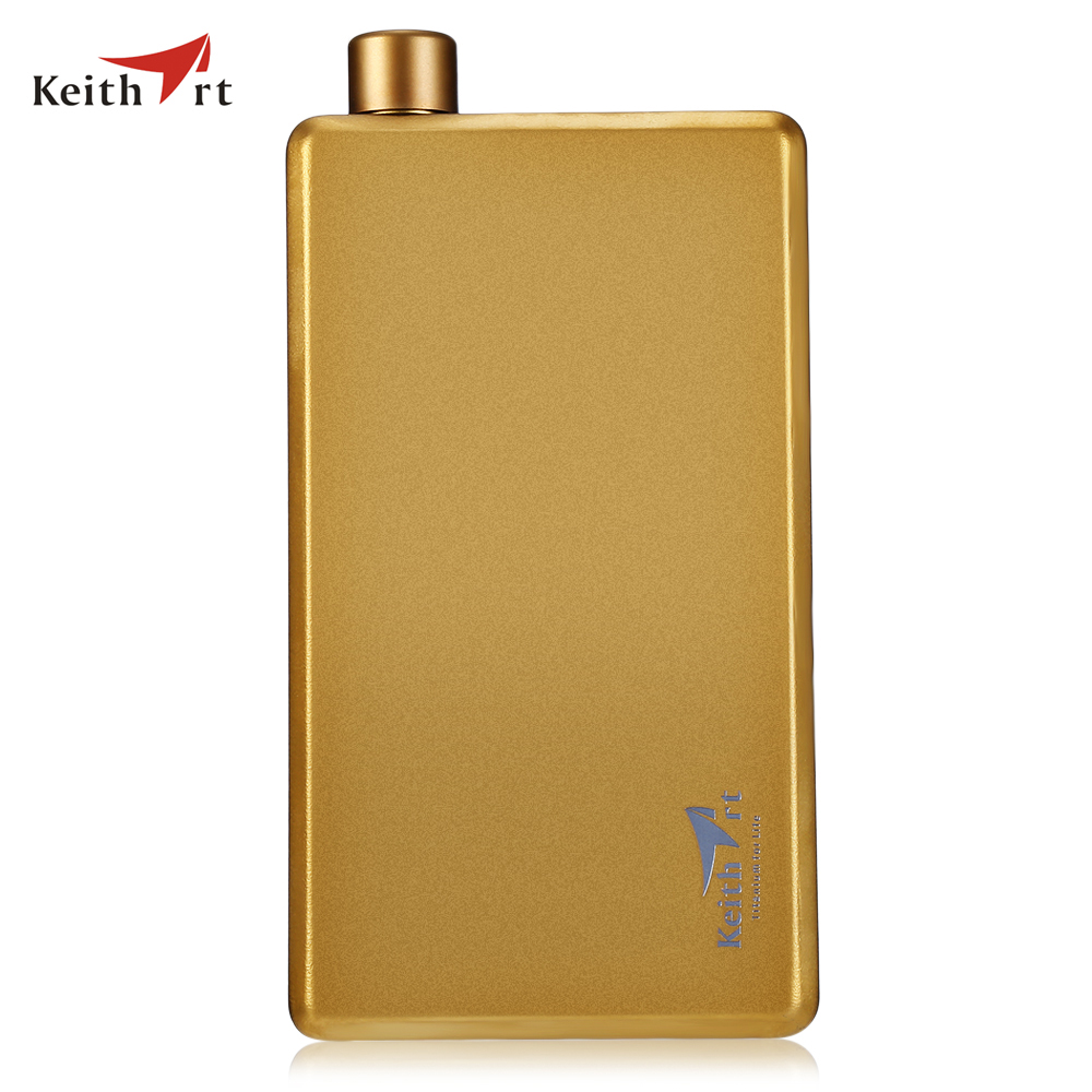 Keithart Ti 9321 Titanium Liquor Hip Flask With Funnel 100mL Mini Metal Flask For Wine Portable