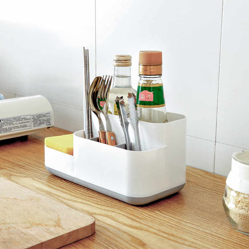 Nhựa Trang Điểm trong Phòng Tắm Hộp Bảo Quản Mỹ Phẩm Organiser Văn Phòng Để Bàn Trang Điểm Trang Sức Hộp Lưu Trữ Đồ Lặt Vặt Bình Chứa
