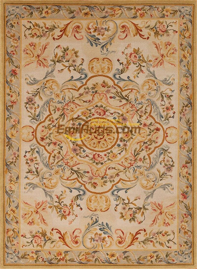 Surdimensionné Savonnerie tapis ancien français Royal tapis grand Floral Antique français Savonnerie tapis Art tapis - 3