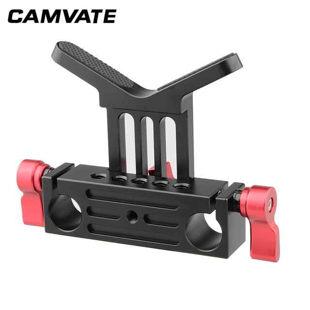 CAMVATE Lens Support Mount Rod Clamp Holder Bracket for 15mm Rod System Follow Focus C1107