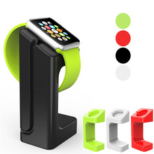 Creative charging stand For Apple Watch 42mm/38mm iWatch Series 4/3/2/1 44/40mm Plastic Charger Dock Station Stand Hold Bracket цена