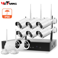 Wetrans Camera System CCTV Wifi 1080P 8CH Sesurity Surveillance Set NVR IP Camera Wireless Waterproof P2P View Night Vision Kit