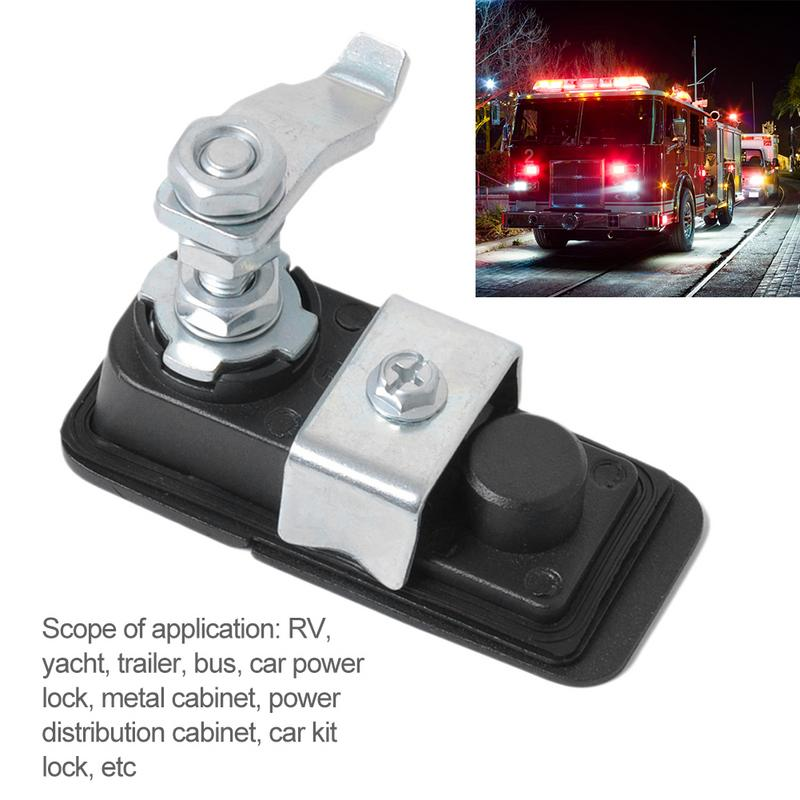 Car Power Lock Metal Cabinet Car Kit Lock Car Flat Toolbox Lock Adjustable Trailer Lock Use