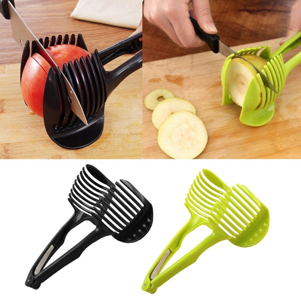 1 шт. томатный слайсер, подставка для резки фруктов, помощник для кухни, отдыхающие Томаты, лимон, слайсер, слайсер случайного цвета D3