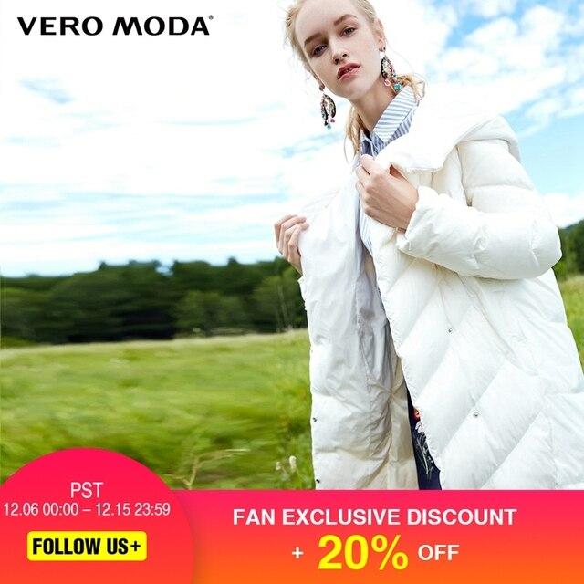 Vero Moda Windproof Lapel Cocoon Medium-style Down Jacket  Winter Jacket Women |317312524