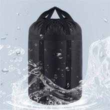 압축 슬리핑 재료 자루 경량 접이식 야외 캠핑 하이킹 고품질 스토리지 패키지 수면 가방 액세서리