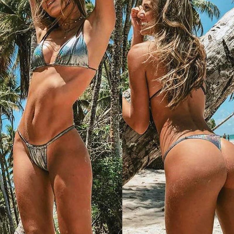 Sport & Unterhaltung Analytisch Mossha Push-up Sexy Badeanzug Weibliche Shiny String Bademode Frauen Badenden Dreieck Micro Bikinis 2019 Mujer Tanga Biquini Schwimmen