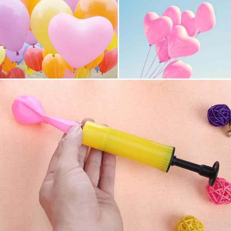 Balon pompası Mini El Topu Parti Balon Şişirme hava pompası Taşınabilir Kullanışlı Balon Dekorasyon Araçları Plastik Kullanışlı