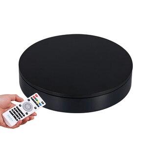 Image 2 - 32cm 스마트 원격 제어 속도 방향 360 학위 자동 회전 사진 회전 턴테이블 디스플레이 스탠드 고품질