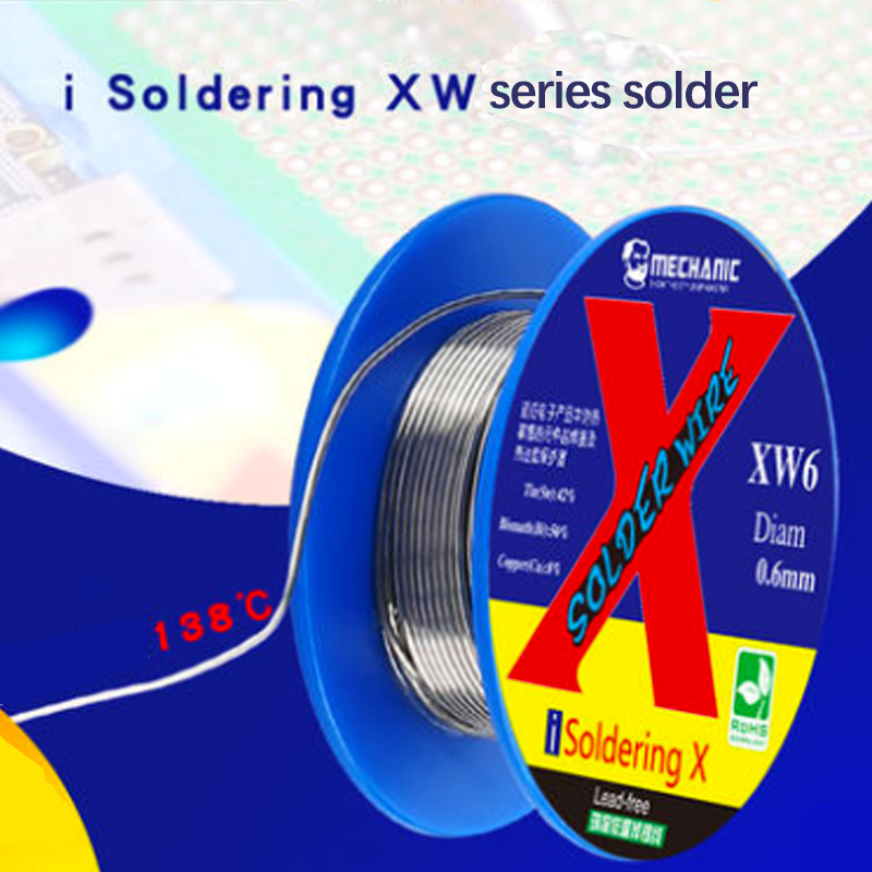Welding Wire Lead-Free Solder Wire Tin Soldering Tools for iPhone XS X MAX XR PCB Electronics Mobile Phone Repair 0.5mm 0.6mm