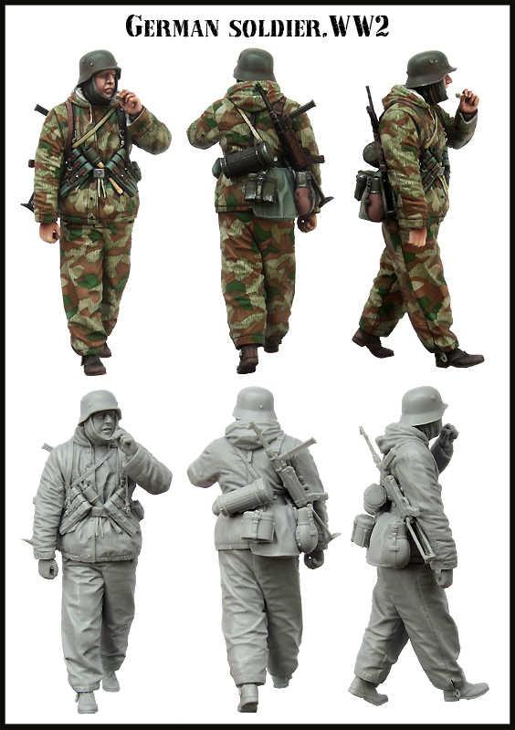 [Model tuska] 1/35 skala niezmontowane żywiczne figurki model z żywicy zestawy E0154