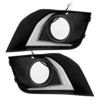 Interior Light 1 Pair Car Daytime Running Light Turn Signal 2 Color LED Fog Lamp for Mitsubishi ASX 16 17 18 Car Styling