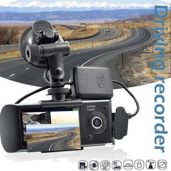 "Car Video Surveillance R300 New Dual Lens Dash Cam 2.7"" Full HD Car DVR Camera Video Recorder W/ GPS Logger DVR/Dash Camera"