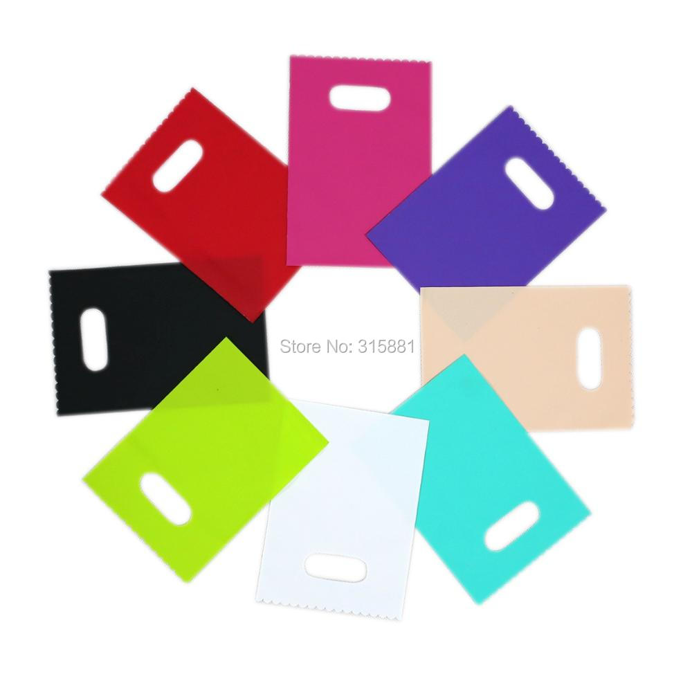 Image 2 - Plastic Gift Bags,jewelry Packaging Pouches, Colorful Plastic shopping bags,Gift Packaging Pouches  20pcs/lot-in Gift Bags & Wrapping Supplies from Home & Garden
