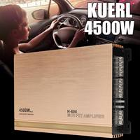 4 Channel 4500W High Power Car Amplifier Stereo Surround Sound Fidelity Aluminum Alloy Car Audio Amplifiers
