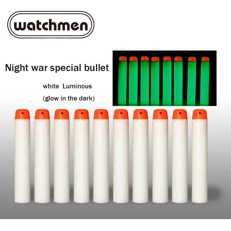 100pcs Fluorescence Toy Orbeez Gun Luminous Bullets For Nerf Series Blasters Refill Clip Darts EVA Soft Bullets Glow In The Dark