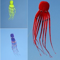 Children Kites Eagle Surfing Cute Animal Vlieger Octopus Kite Adults Fun Flying Kites Large Octopus Kite with Handle Line