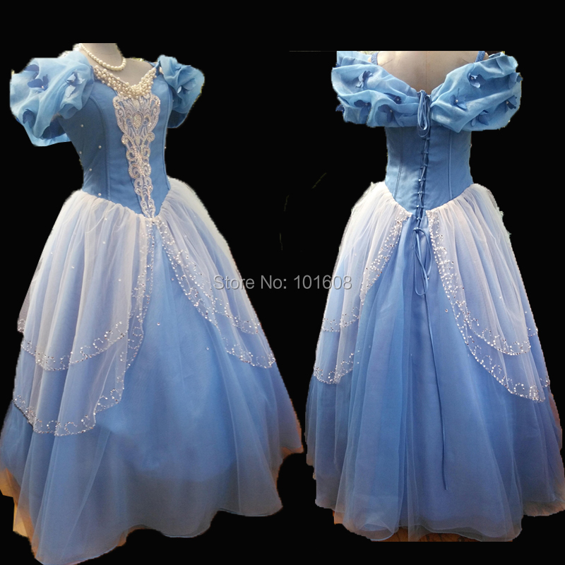 Tailored!Blue Snow White Women Adult Southern Victorian Dress Ball Gown Gothic Lolita Halloween Historical Theatre dress HL-539
